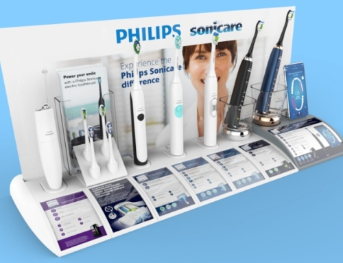 POS interactive display – Philips Sonicare electric toothbrush