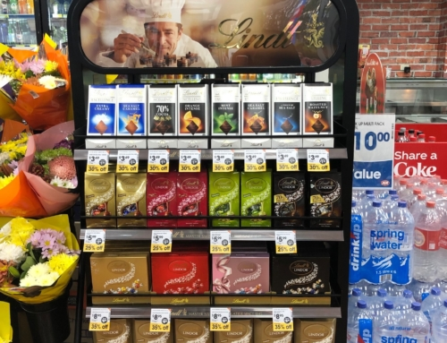 POS display for premium chocolates