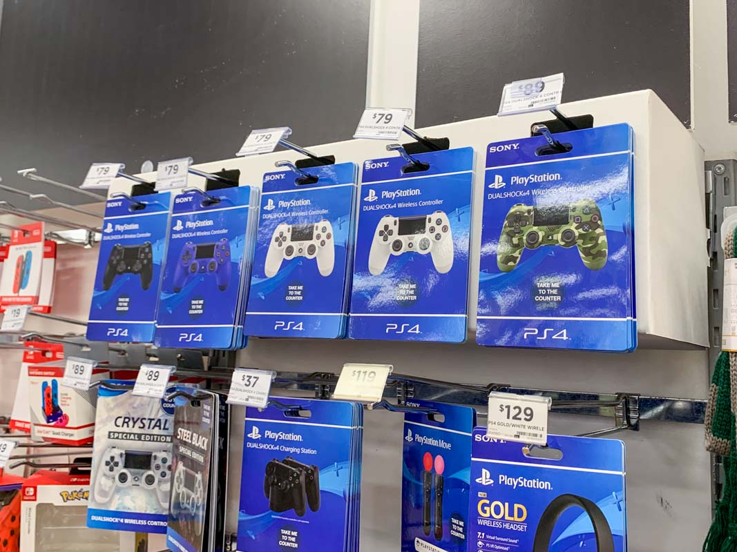 Hangsell-product-card-pos-display-idea-for-Playstation-gaming-products-in-Big-W-mock-up