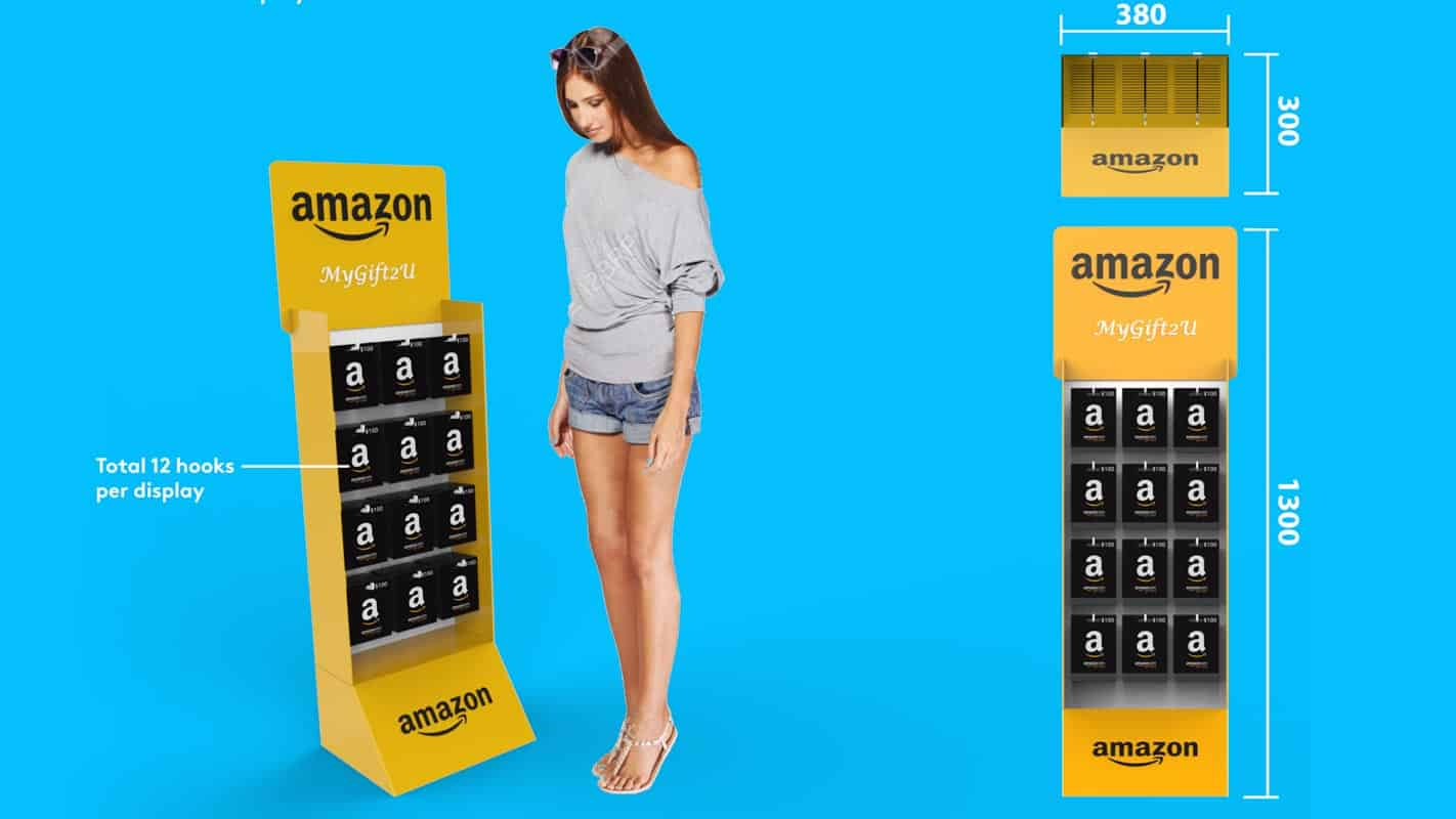 Genesis Retail Displays pos display manufacturer in Australia for custom designs for a cardboard display for gift cards in grocery stores