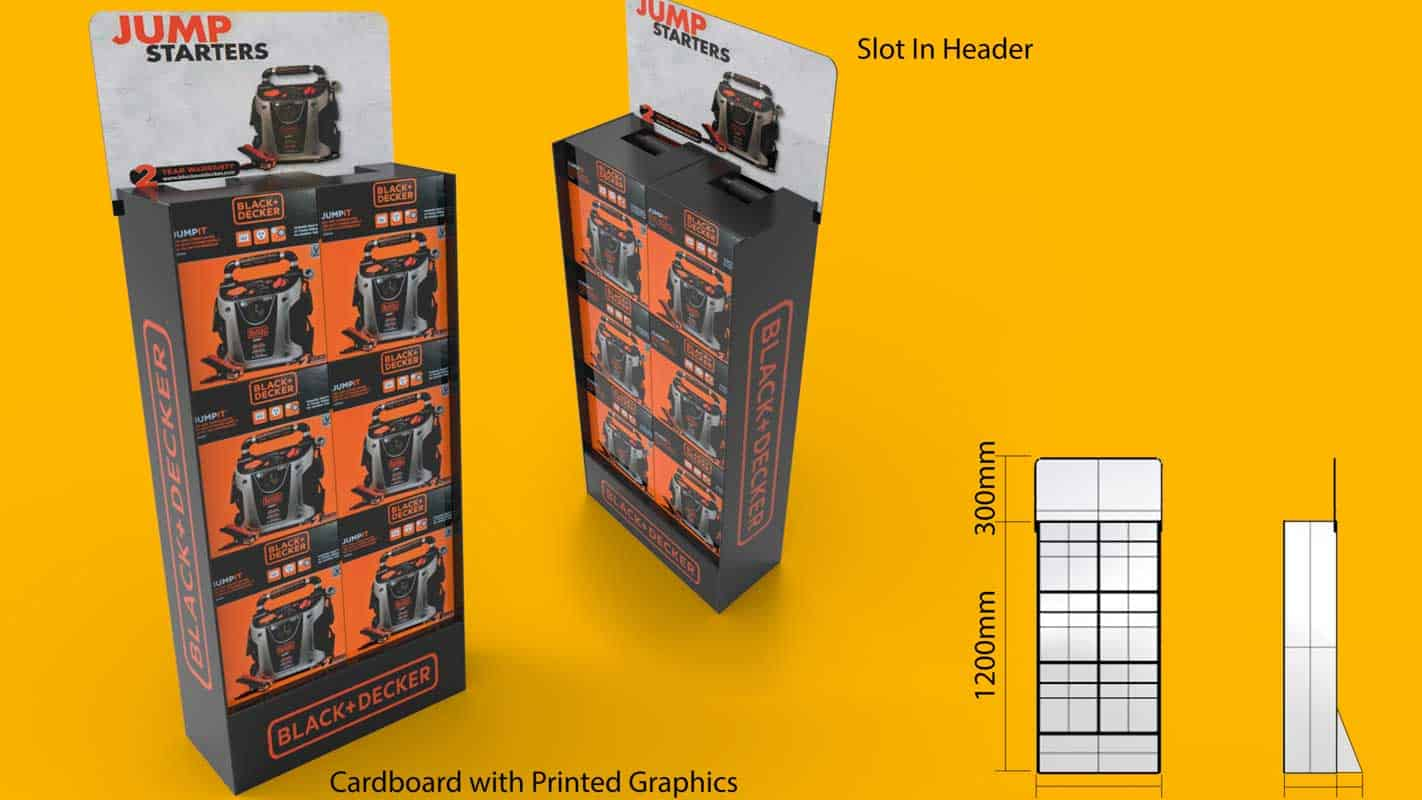 Genesis Retail Displays pos display manufacturer in Australia for custom designs for a cardboard display stand that can hold heavy products