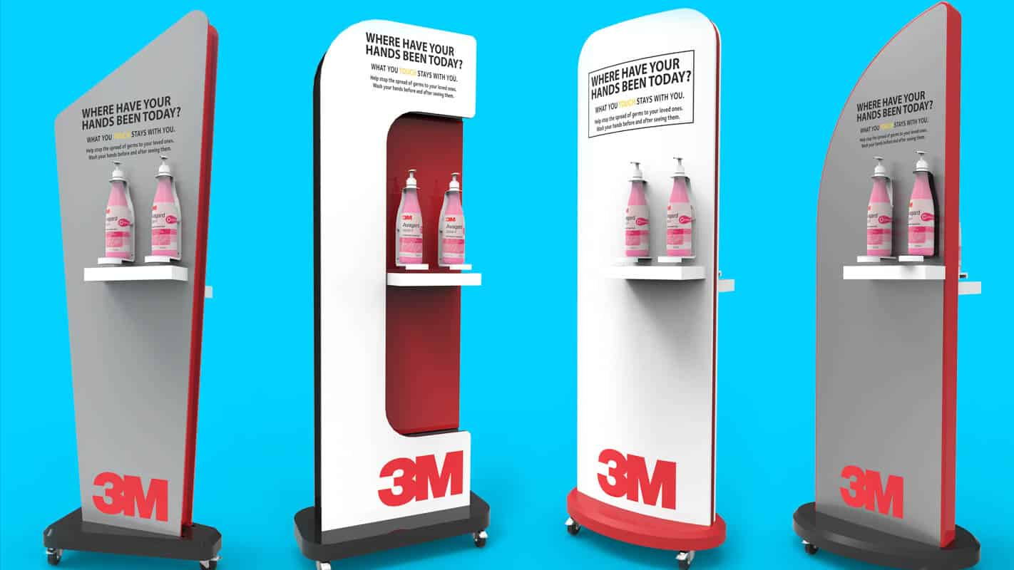 Genesis Retail Displays pos display manufacturer in Australia for custom designs for a permanent display stand unit that can hold sample products