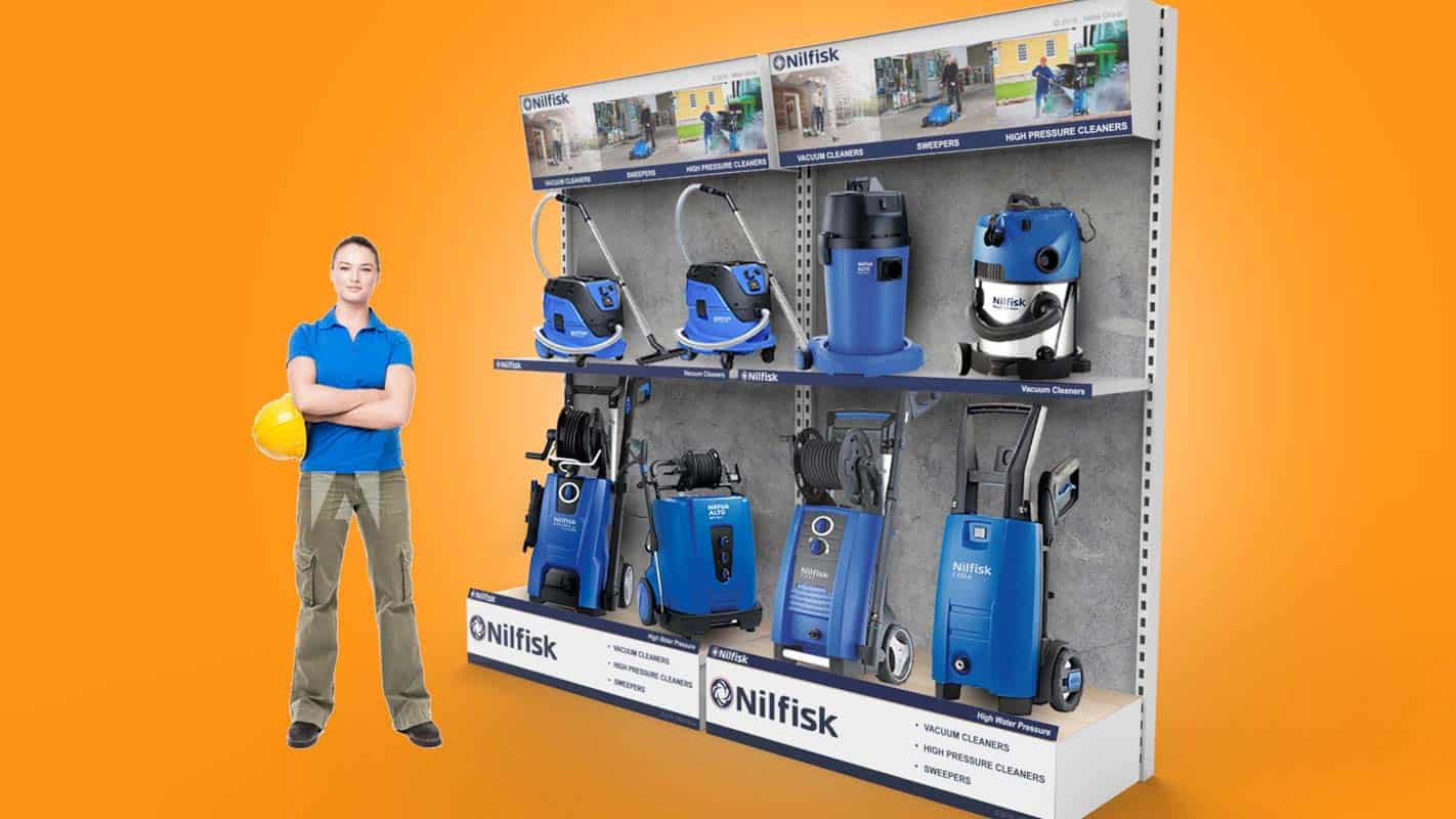 Genesis Retail Displays pos display manufacturer in Australia for custom designs for a wall bay design to showcase new products in an electrical or hardware store