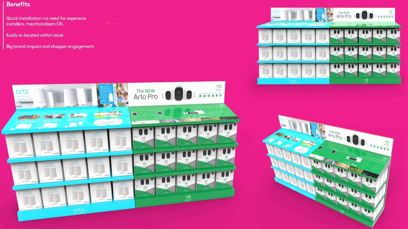 Genesis Retail Displays pos display manufacturer in Australia for custom designs for an aisle display bay area for interactive products