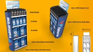 Why metal POS Displays are a good idea Genesis Retail Displays pos display manufacturer in Australia for custom designs for motor oil display like valvoline in supercheap auto