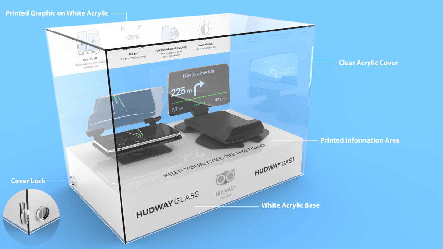 A freestanding interactive display unit for retail stores that can demonstrate technology products designed by Genesis Retail Displays in Australia 1