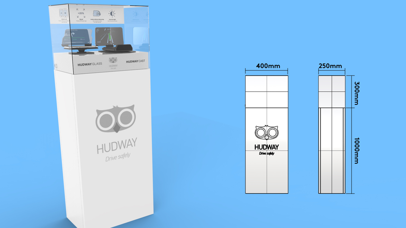 A freestanding interactive display unit for retail stores that can demonstrate technology products designed by Genesis Retail Displays in Australia 3