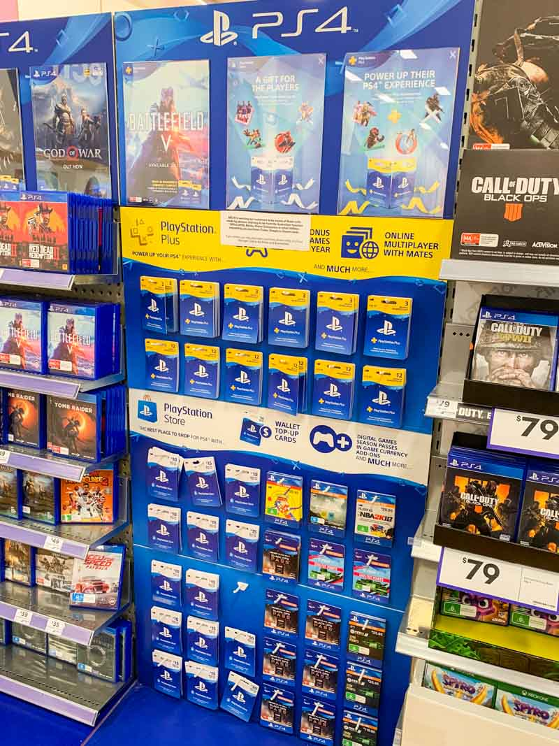 Custom-Designed-Point-of-Sale-for-Big-W-Retail-Stores-to-display-Playstation-video-games-created-by-Genesis-Retail-Displays-in-Australia