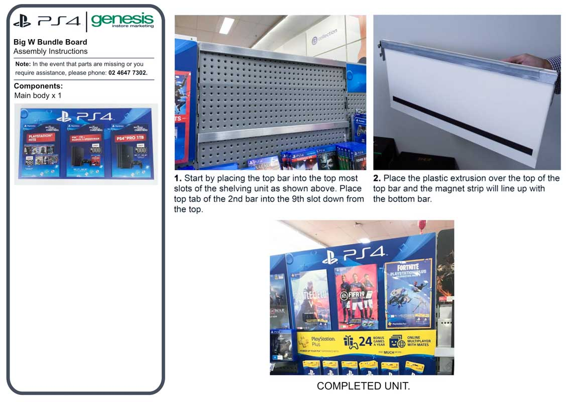 Custom-Designed-Point-of-Sale-for-Big-W-Retail-Stores-to-display-video-games-created-by-Genesis-Retail-Displays-in-Australia-instructions