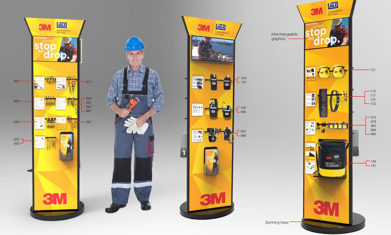 Custom designed semi permanent retail point of sale displays for products in retail by Genesis Retail Displays posm manufacturer in Sydney hardware products in Bunnings stand