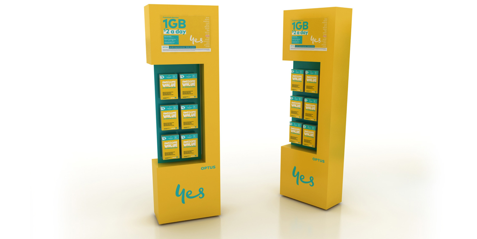 Custom designed semi permanent retail point of sale displays for products in retail by Genesis Retail Displays posm manufacturer in Sydney mobile phone stand