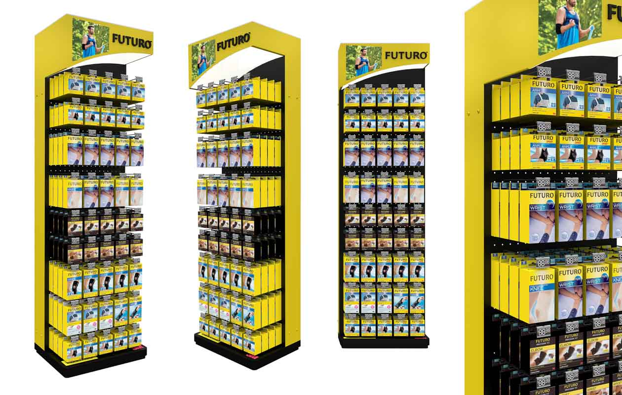 How POS Displays Can Convert More Shoppers to Buy Custom designed permanent retail point of sale displays for products in retail by Genesis Retail Displays pop manufacturer in Sydney for an endcap